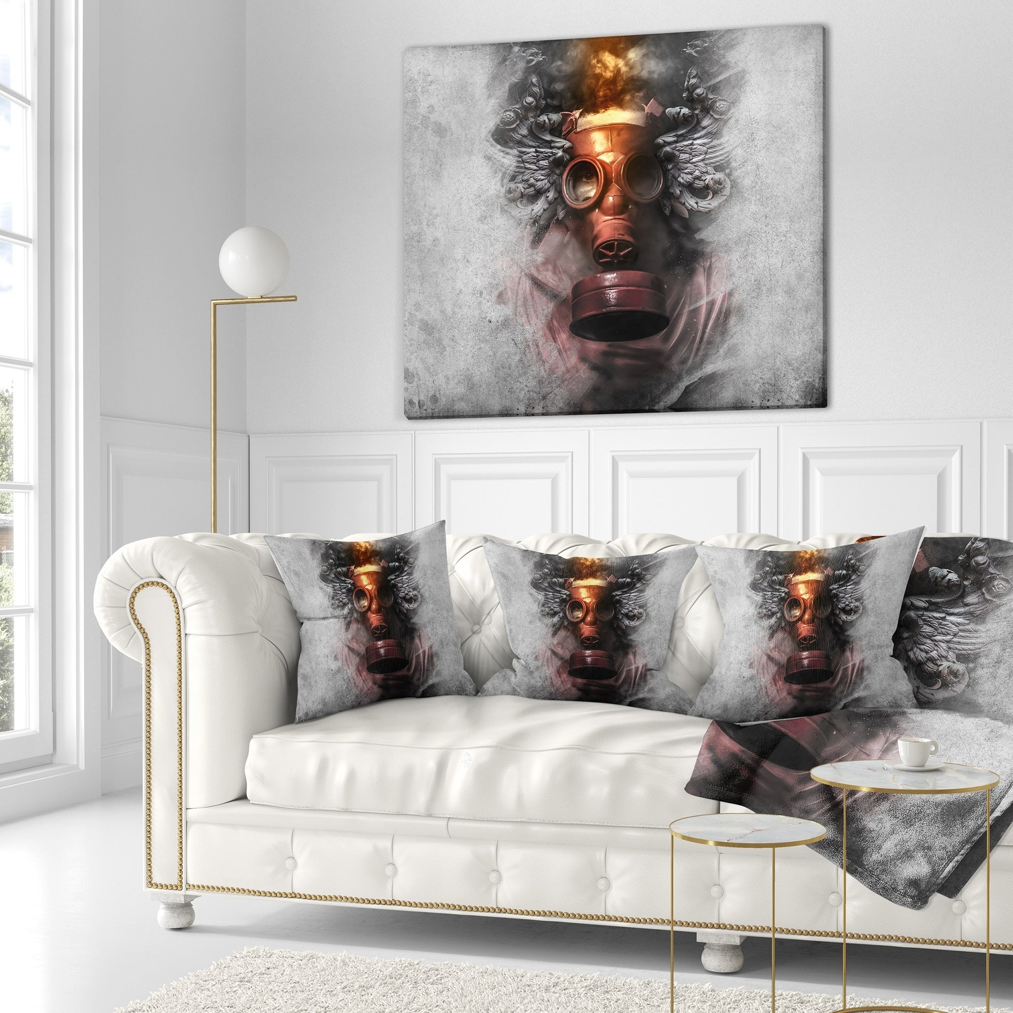 Designart Toxic Man In Mask Abstract Portrait Throw Blanket On Sale Overstock 20911077