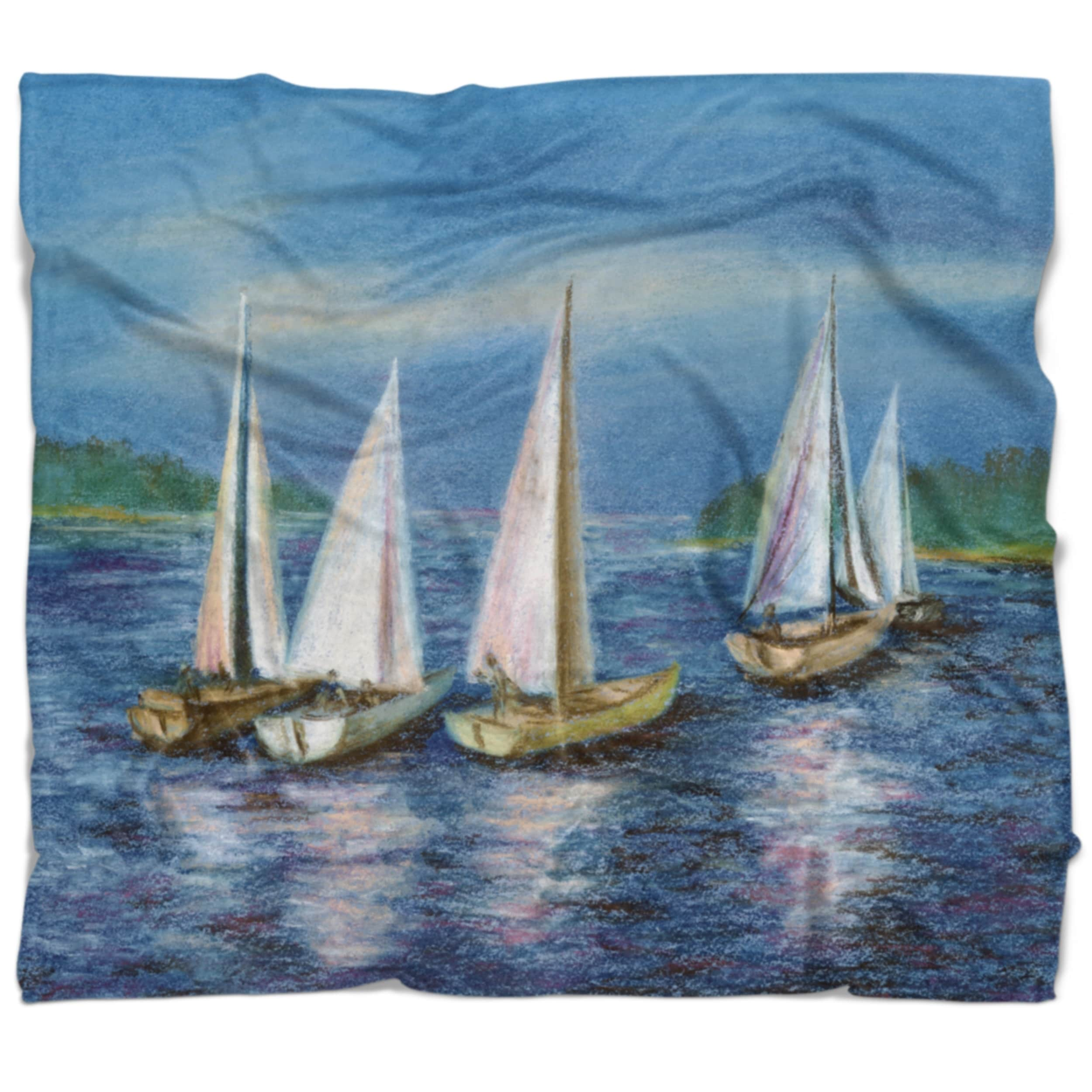 Designart Yachts By Obsky Sea Seascape Throw Blanket On Sale Overstock 20911175 71 In X 59 In