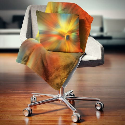 Designart 'Yellow Focus Color' Abstract Throw Blanket