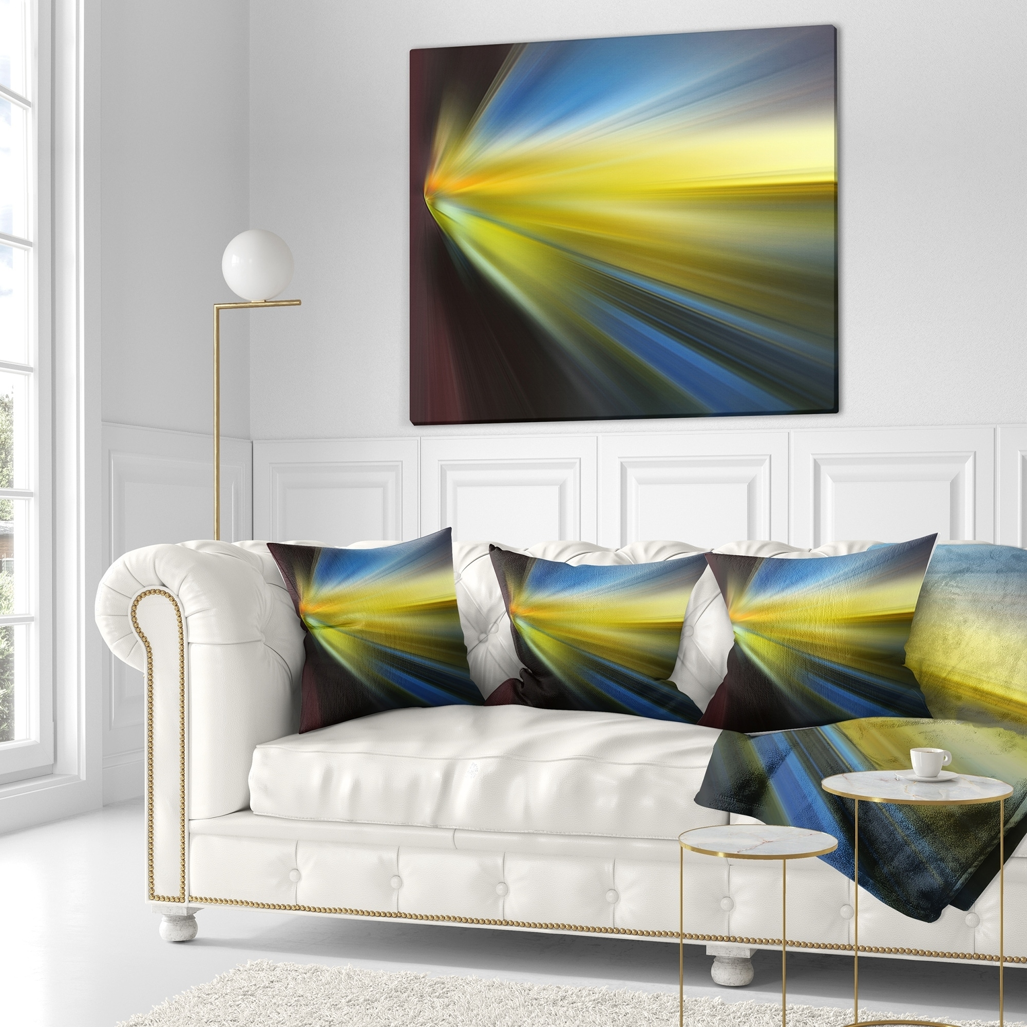 Designart Brown Blue Focus Light Abstract Throw Blanket On Sale Overstock 20911298 71 In X 59 In
