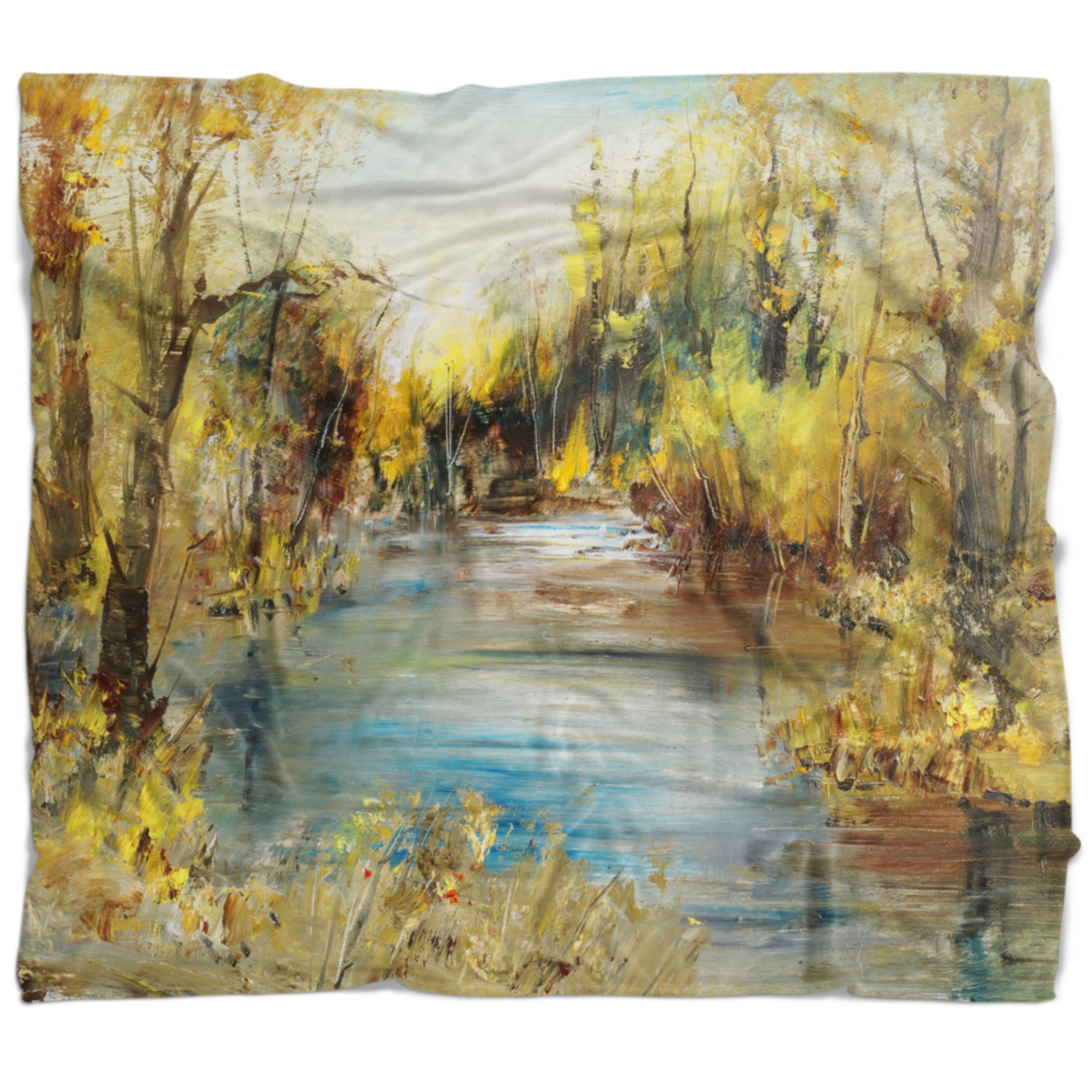 Designart Lake In Forest Landscape Throw Blanket On Sale Overstock 20911547 71 In X 59 In