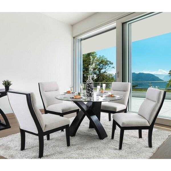Furniture of America Zibo Contemporary Black 5-piece Dining Set