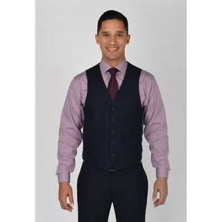Kenneth Cole Reaction Navy Shadow Check Suit Separate Vest