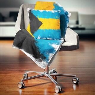 Designart 'Bahamas Flag Illustration' Flag Painting Throw Blanket