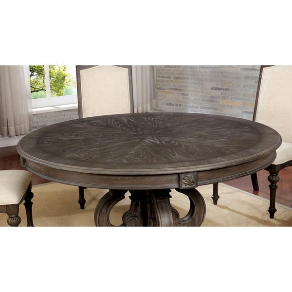 Rustic Brown 60 Inch Round Dining