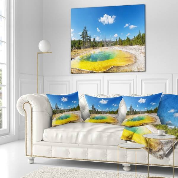 Designart Morning Glory Pool With Bright Sky Landscape Photography Throw Blanket On Sale Overstock 20911884 71 In X 59 In