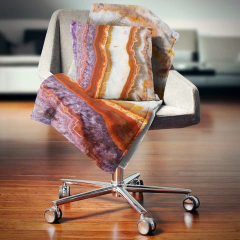 Designart 'Colorful Stone Stripes' Abstract Throw Blanket