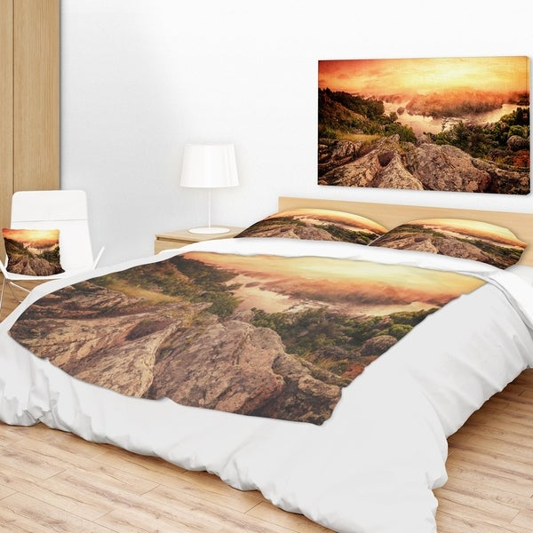 Shop Designart Vintage Mountain Sunrise Landscape Photography