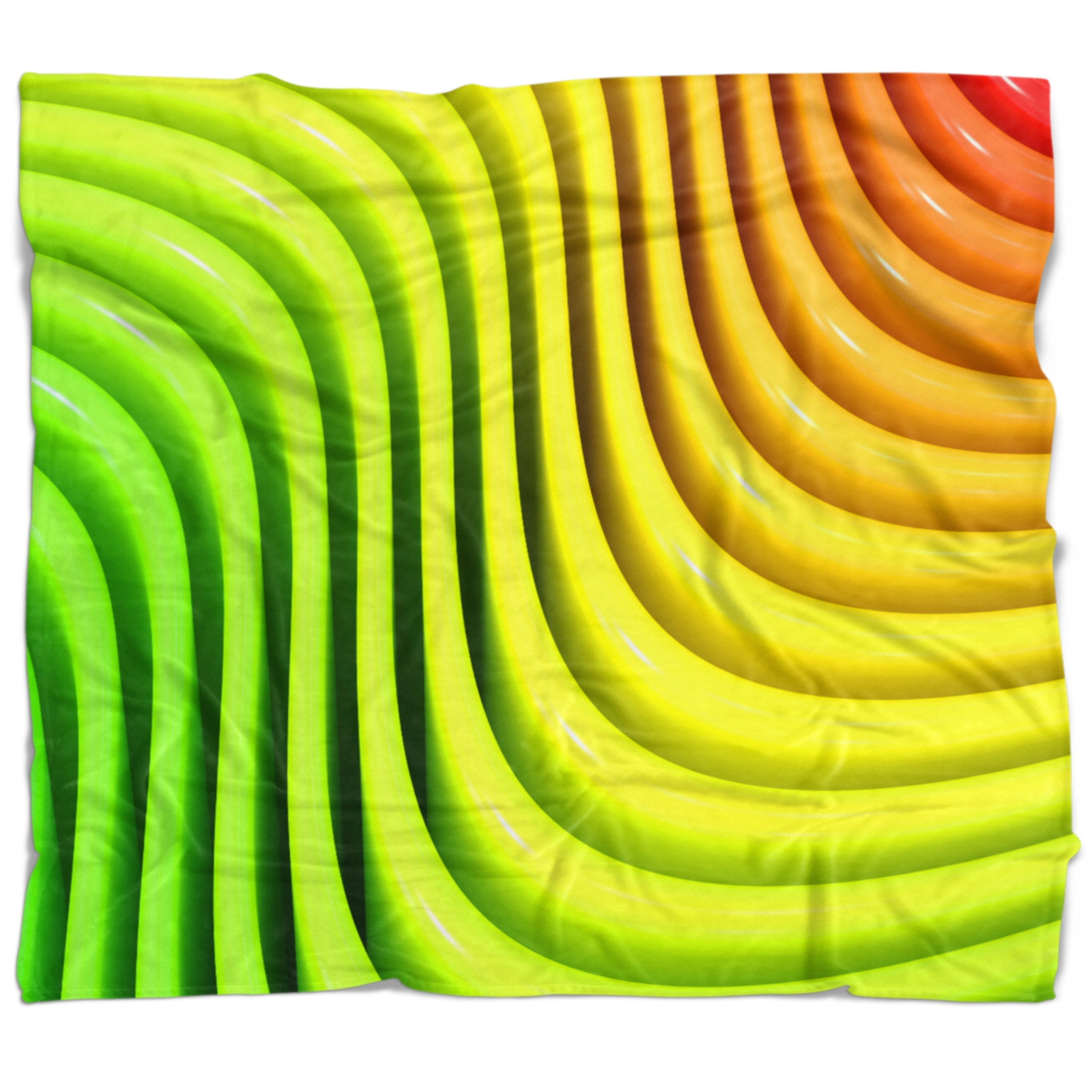 Designart Rainbow Colors Wave Abstract 3d Digital Throw Blanket On Sale Overstock 20912390 71 In X 59 In