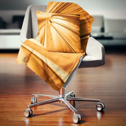 Designart 'Fractal 3D Brown Stripes' Contemporary Throw Blanket