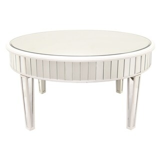 Three Hands Mirrored Coffee Table-White