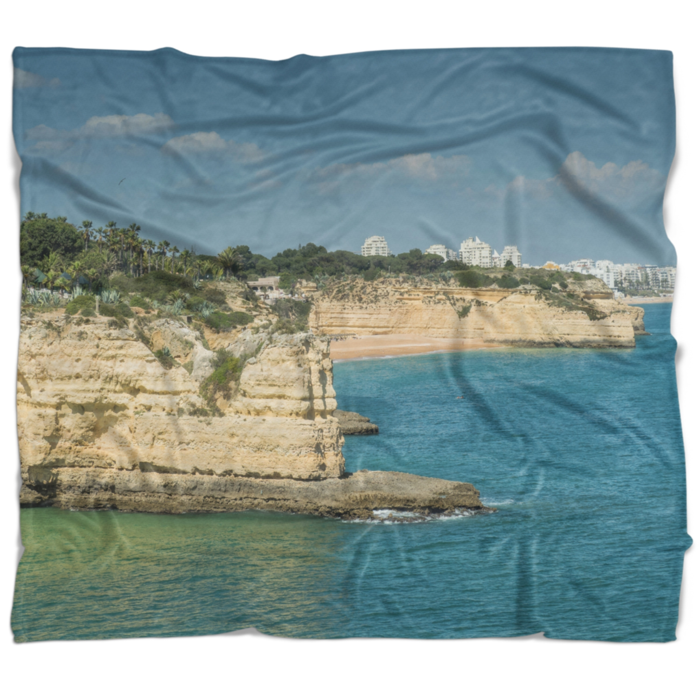 Designart Armacao De Pera Algarve Beach Seascape Throw Blanket On Sale Overstock 20913339 71 In X 59 In