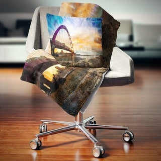 0c1931b847 Shop Designart  Color Red Bridge Sunset Taiwan  Modern Seascape Throw  Blanket - On Sale - Free Shipping Today - Overstock.com - 20913975