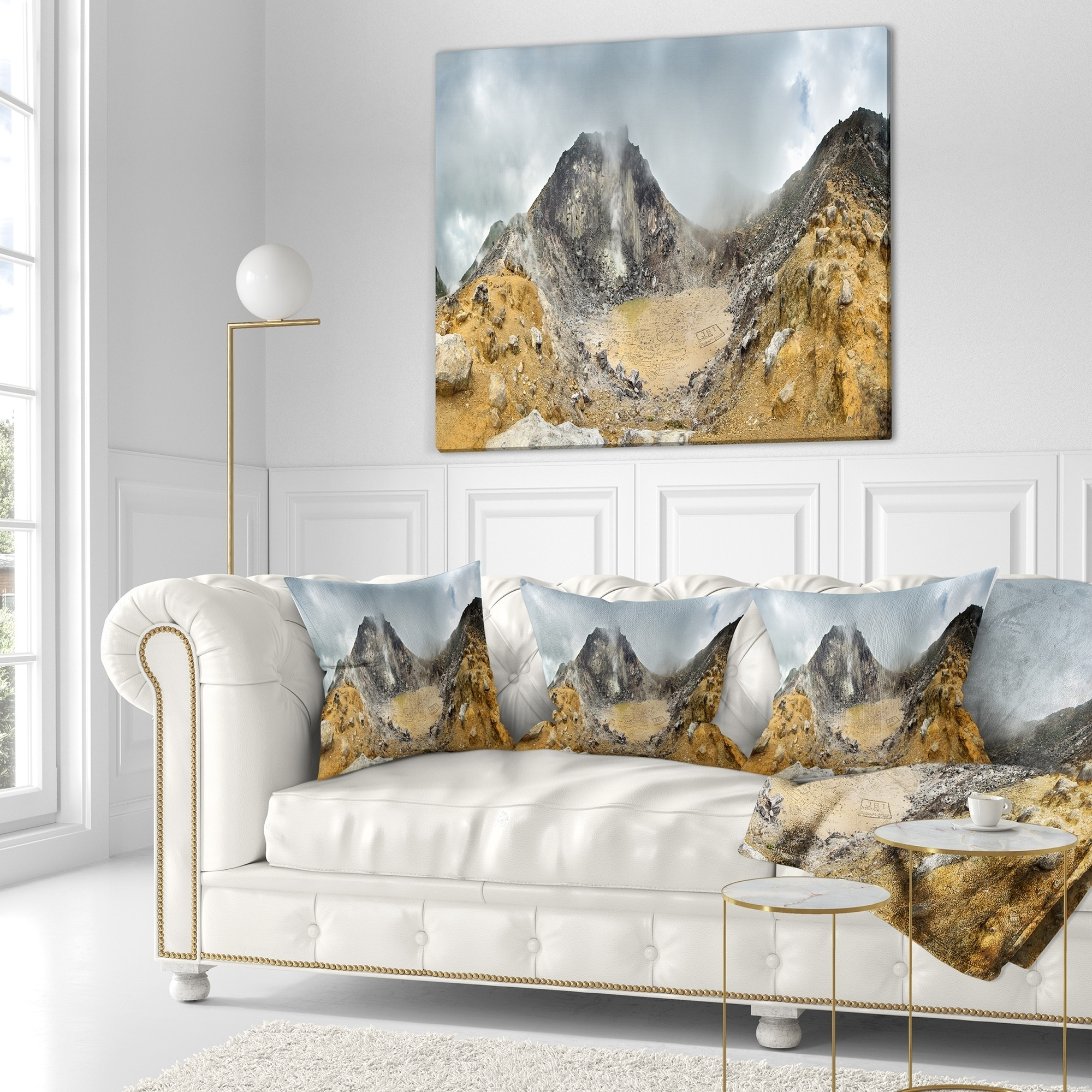 Shop Designart Volcano Panorama With Dramatic Sky Landscape Fleece Throw Blanket On Sale Overstock 20914295