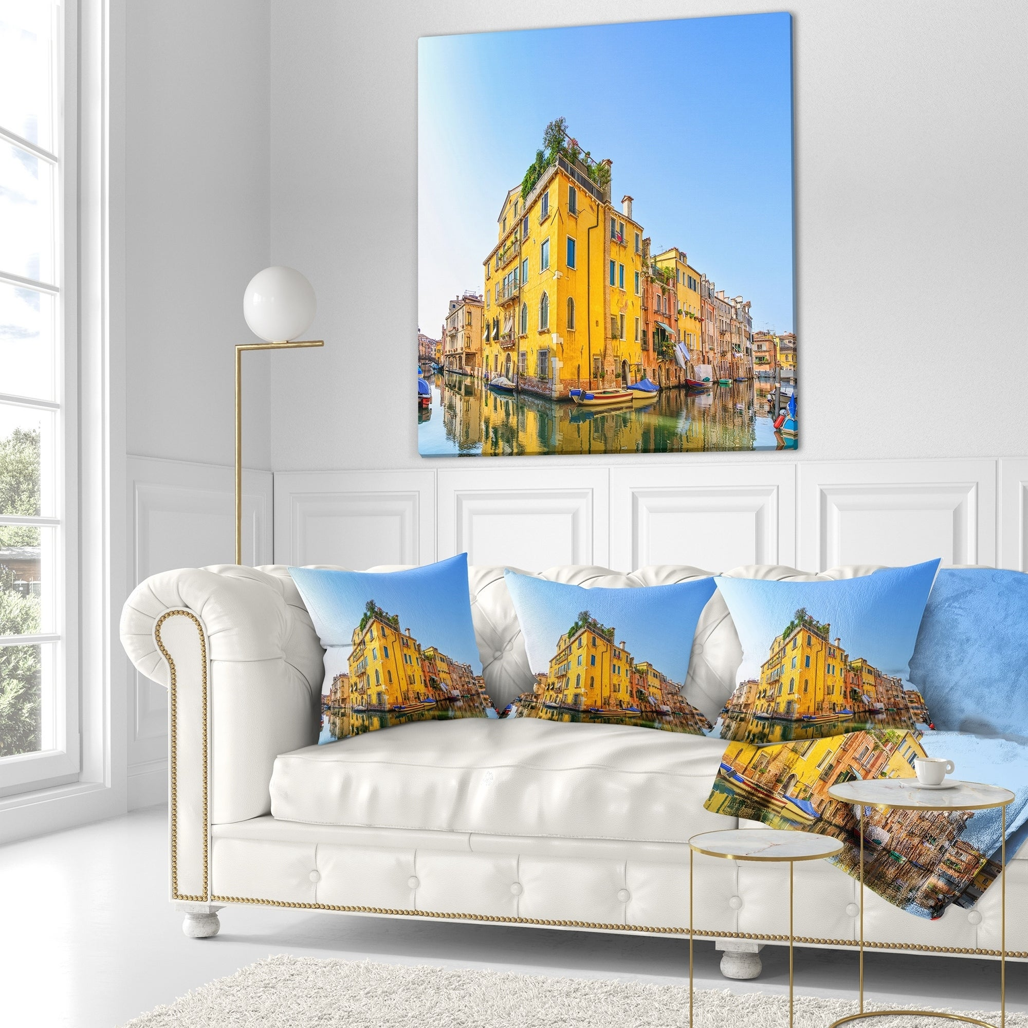 Designart Venice Cityscape Water Canal Abstract Throw Blanket On Sale Overstock 20915698 59 In X 71 In