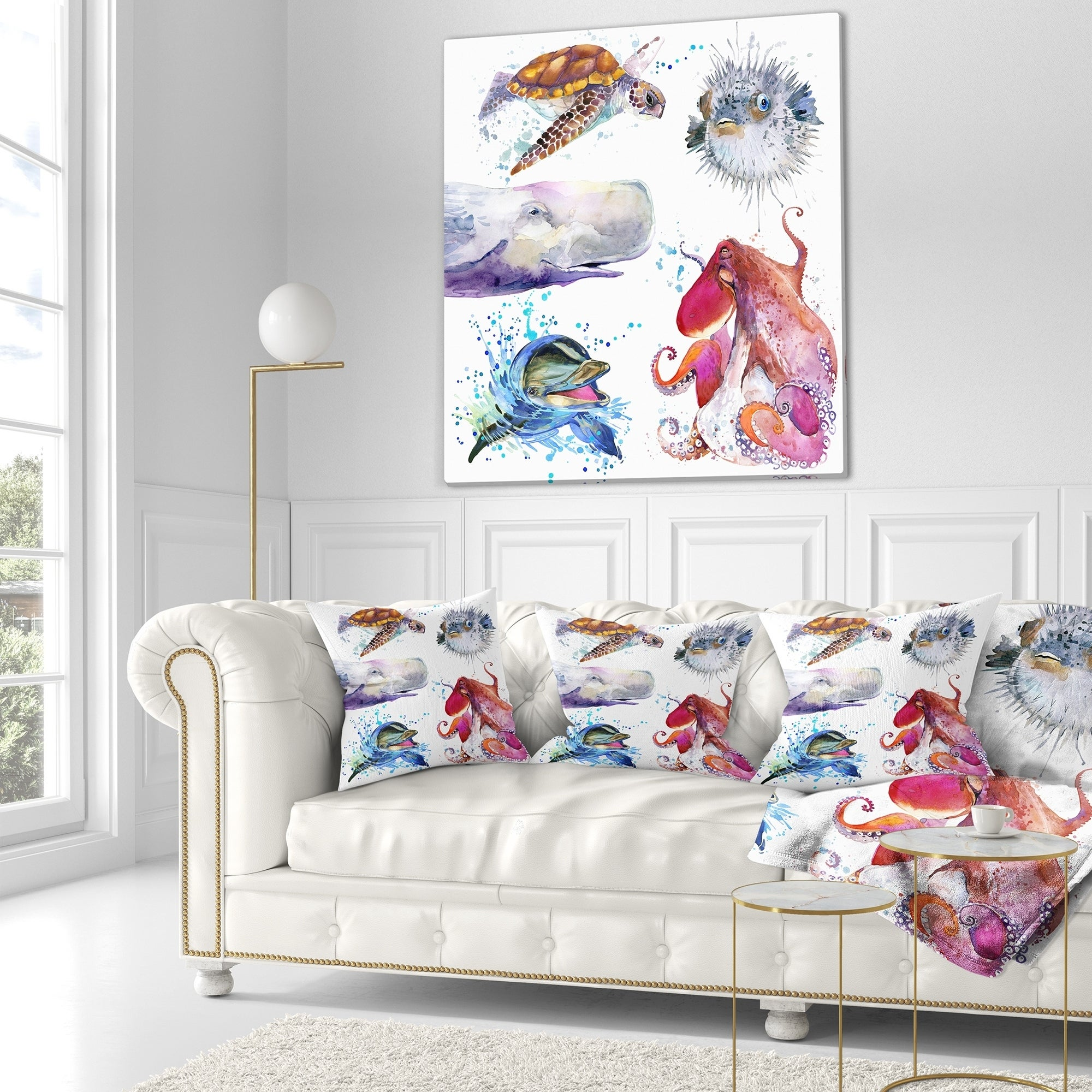 Designart Amazing Undersea Life Collage Contemporary Animal Throw Blanket On Sale Overstock 20916133 59 In X 71 In