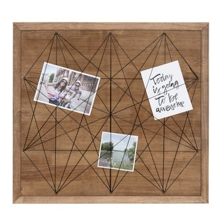 Taffy Framed Photo Gallery Collage Organizer, Rustic Brown 21.5 x 20
