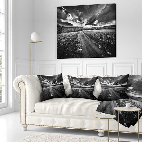 Outstanding Shop Designart Black White Landscape From Sardinia Creativecarmelina Interior Chair Design Creativecarmelinacom