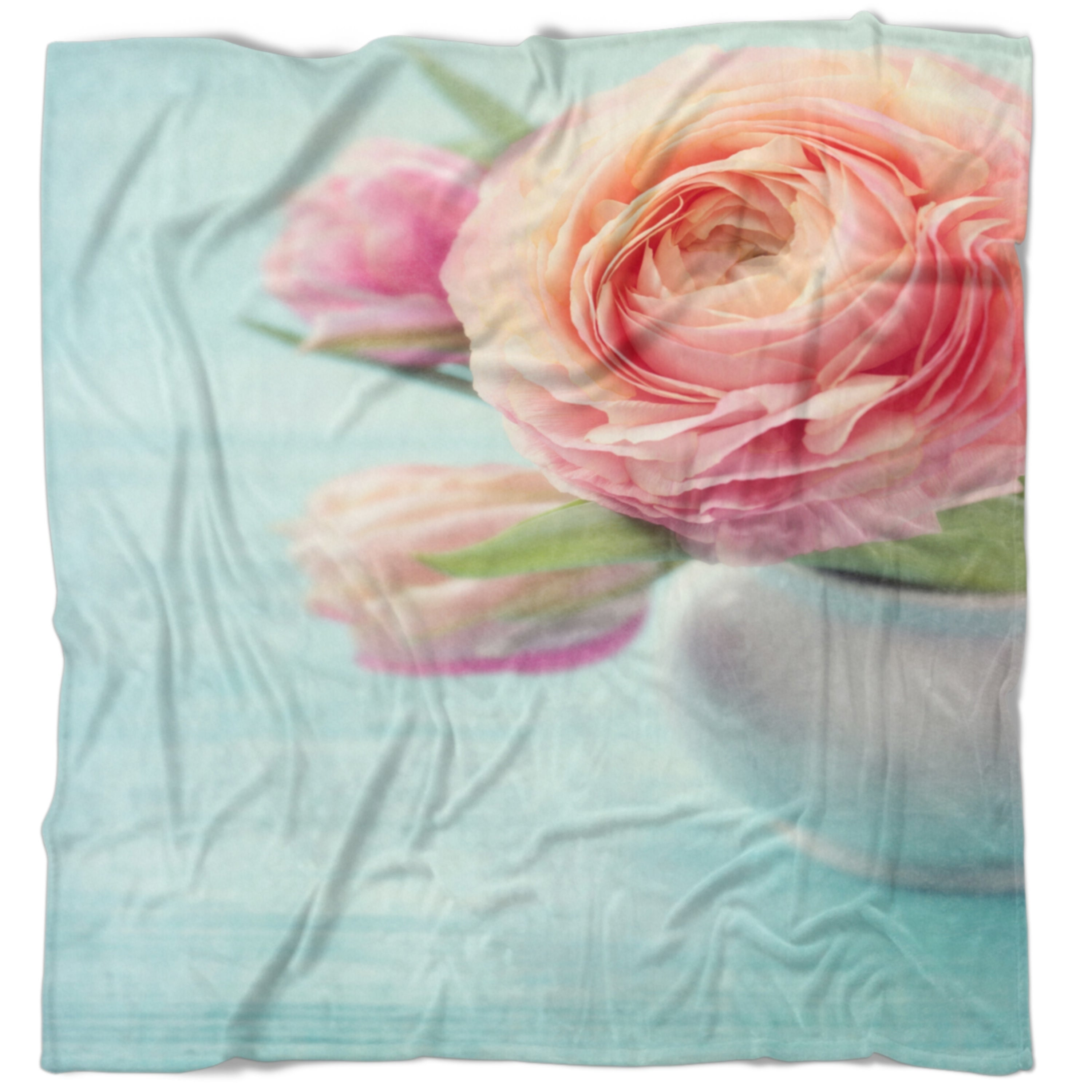 Designart Beautiful Pink Flowers In Vase Floral Throw Blanket On Sale Overstock 20916801 59 In X 71 In