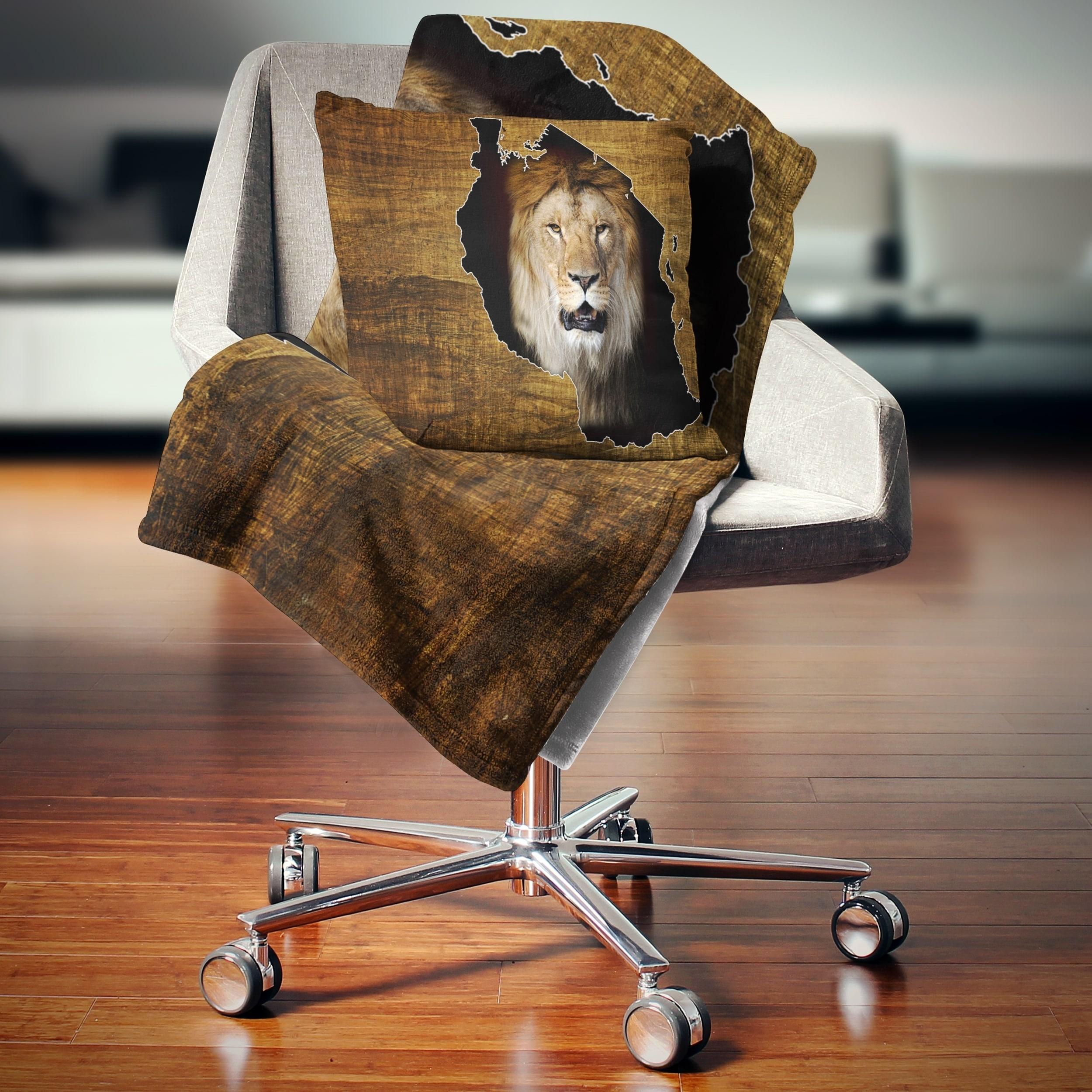 Shop Designart Tanzania Wildlife Map Design Abstract Throw Blanket Overstock 20916950