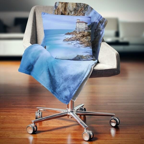 Designart 'Beautiful Italian Seashore View' Seascape Throw Blanket Gorgeous Italian Throw Blanket