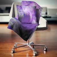 Designart 'Perfect Light Purple Starry Sky' Abstract Throw Blanket