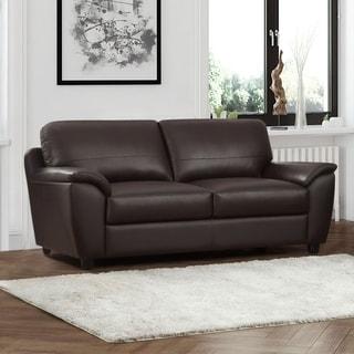 Abbyson Sedona Brown Top Grain Leather Sofa