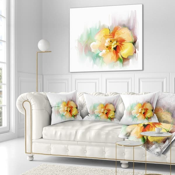 Designart Beautiful Yellow Flower Drawing Floral Throw Blanket On Sale Overstock 20918800 71 In X 59 In