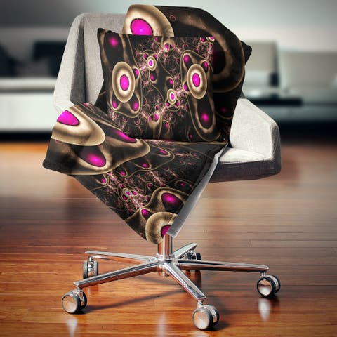 Designart 'Purple 3D Surreal Abstract Design' Abstract Throw Blanket