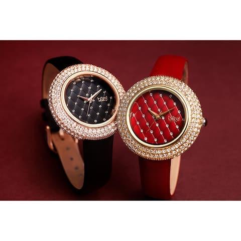 Burgi Ladies Argyle Dial Swarovski Crystal Glamour Strap Watch