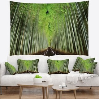 Designart 'Beautiful Bamboo Forest Panorama' Landscape Wall Tapestry