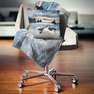 Designart 'Beautiful Porthcothan Bay' Seashore Throw Blanket