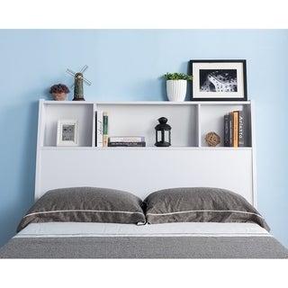 Tara White Bookcase Headboard