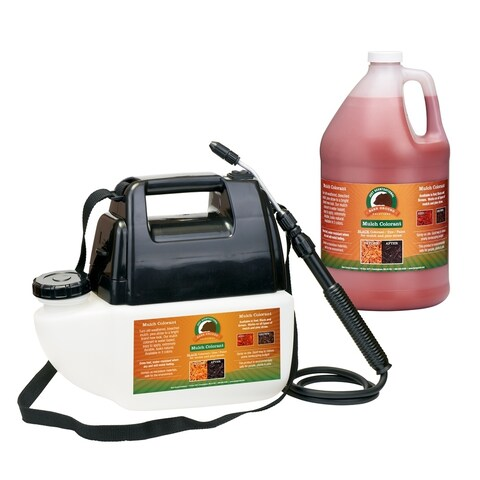 Red Mulch Colorant with Battery Operated Sprayer