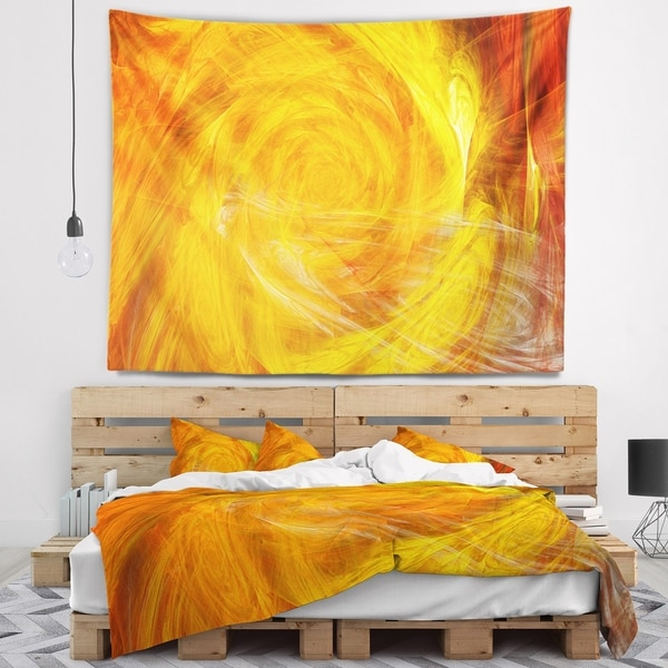 Designart 'Mystic Abstract Fractal Rose' Abstract Wall Tapestry