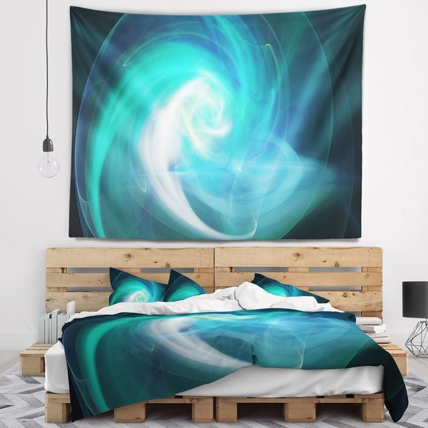 Designart 'Blue Fractal Abstract Illustration' Abstract Wall Tapestry