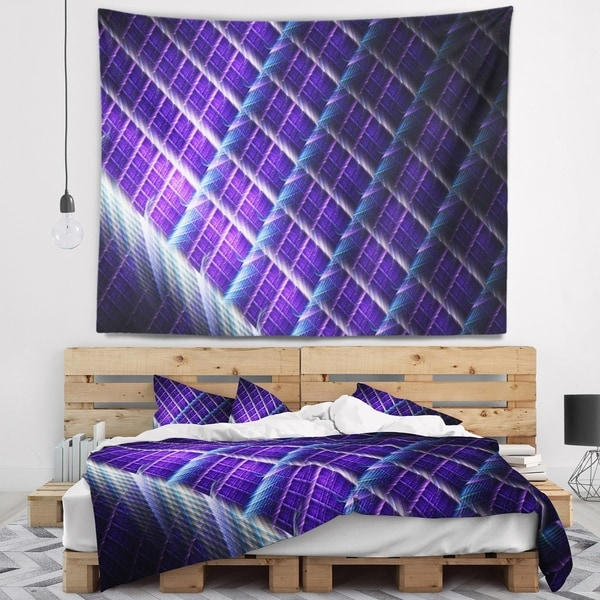 Designart 'Light Purple Metal Grill' Abstract Wall Tapestry