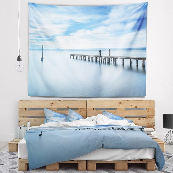 Designart 'Bright Sky and Blue Sea' Seascape Wall Tapestry