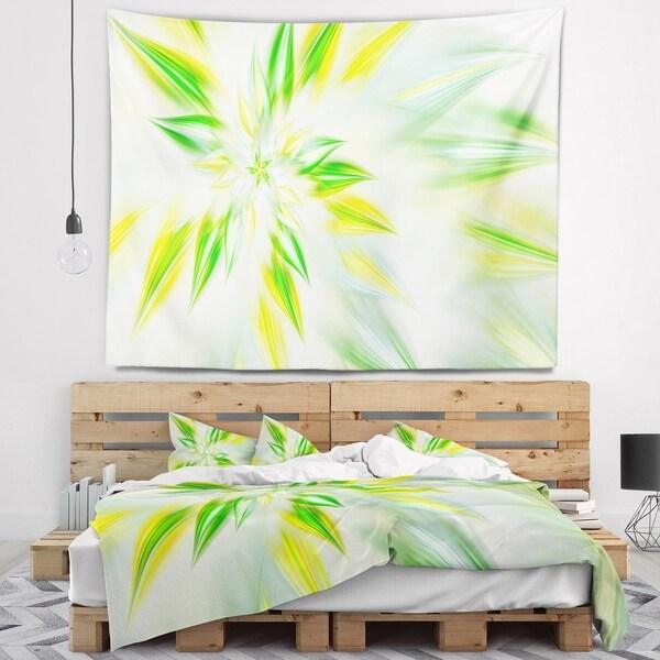 Designart 'Light Green Fractal Spiral Flower' Abstract Wall Tapestry
