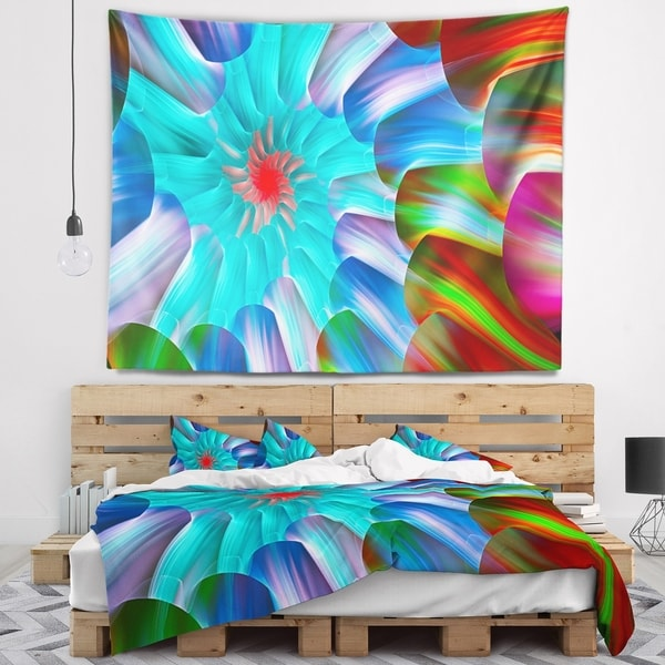 Designart 'Multi Layered Fractal Spirals' Abstract Wall Tapestry