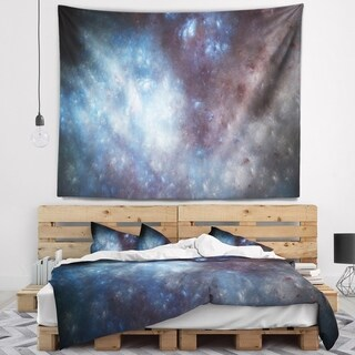 Designart 'Blue Grey Starry Fractal Sky' Abstract Wall Tapestry