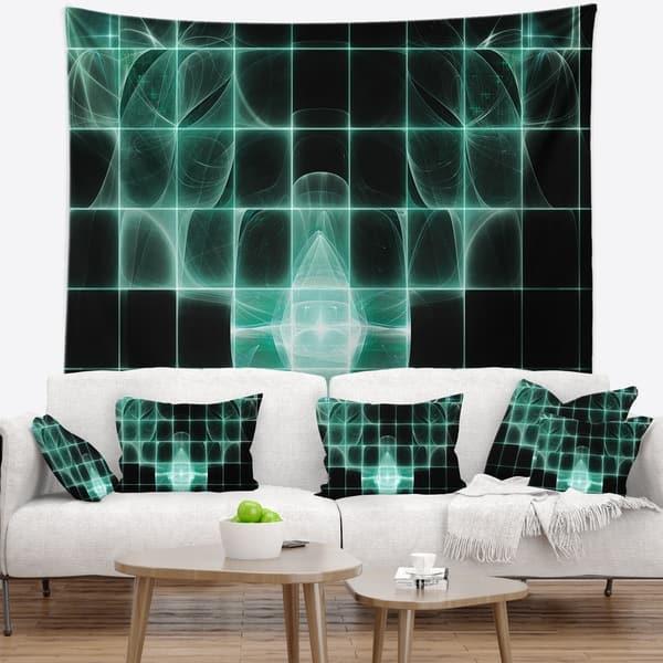 Designart Blue Bat On Rader Screen Abstract Wall Tapestry Overstock 20920295