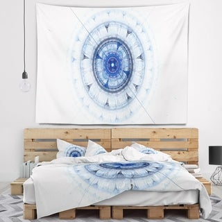 Designart 'Cabalistic Blue Fractal Sphere' Abstract Wall Tapestry