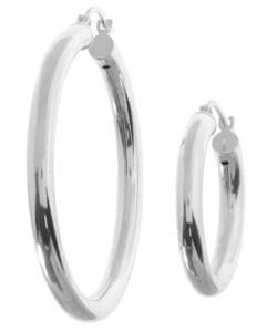 Sterling Silver Classic Hoop Earrings (Set of 2)