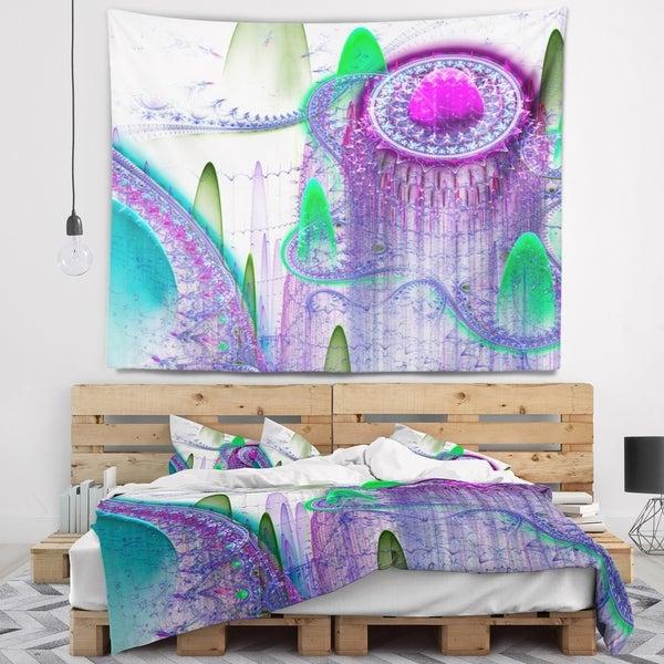Designart 'Purple Fractal Infinite World' Abstract Wall Tapestry