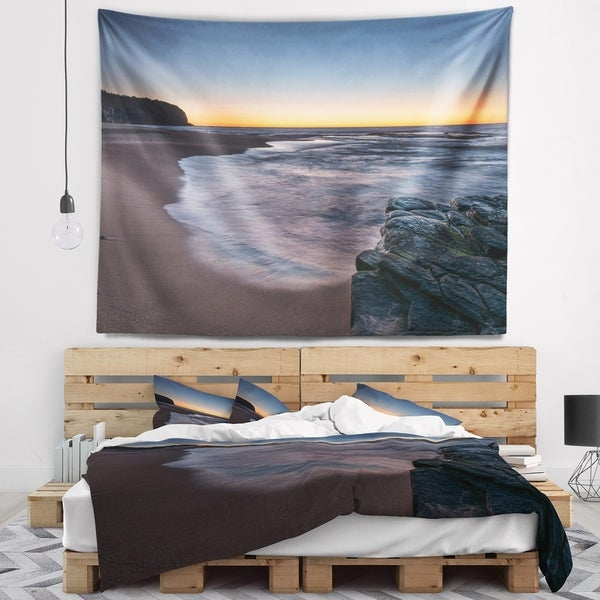 Designart 'Sunrise at Sydney Over Sea' Seascape Wall Tapestry