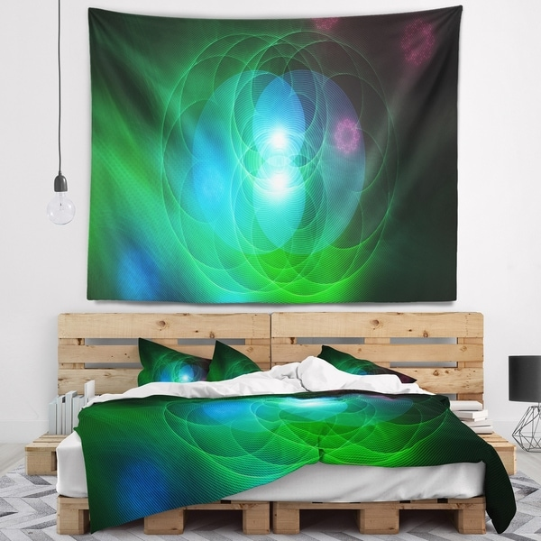 Designart 'Merge Colored Spheres.' Abstract Wall Tapestry