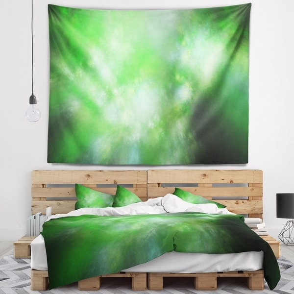 Designart 'Green Blur Sky with Stars' Abstract Wall Tapestry