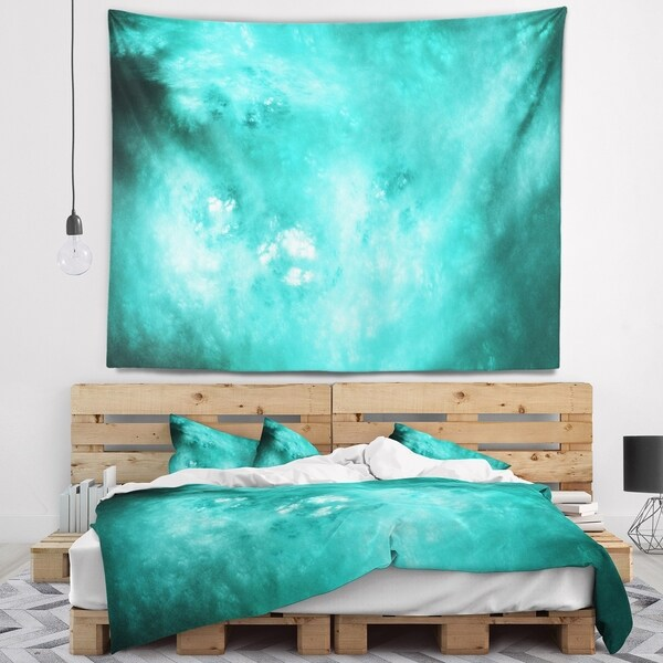 Designart 'Blur Blue Sky with Stars' Abstract Wall Tapestry