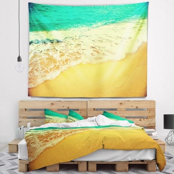 Designart 'Beautiful Sea Summer Background' Seashore Wall Tapestry